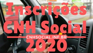 Inscrições CNH Social 2020