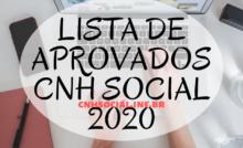 LISTA DE APROVADOS CNH SOCIAL 2019 → Resultado CNH Social