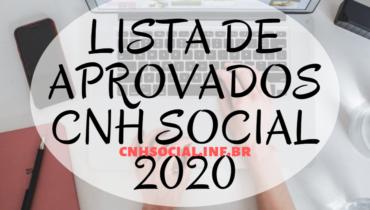 Lista de Aprovados CNH Social 2020